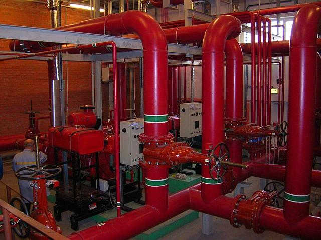 Монтаж противопожарного водопровода